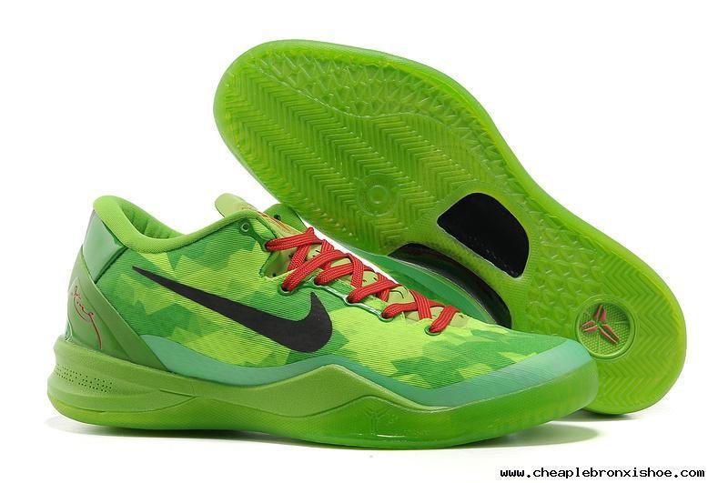buy popular 67b52 76729 Buy Nike Zoom Kobe VIII Volt Black Green Apple Crimson Mens Basketball Shoes