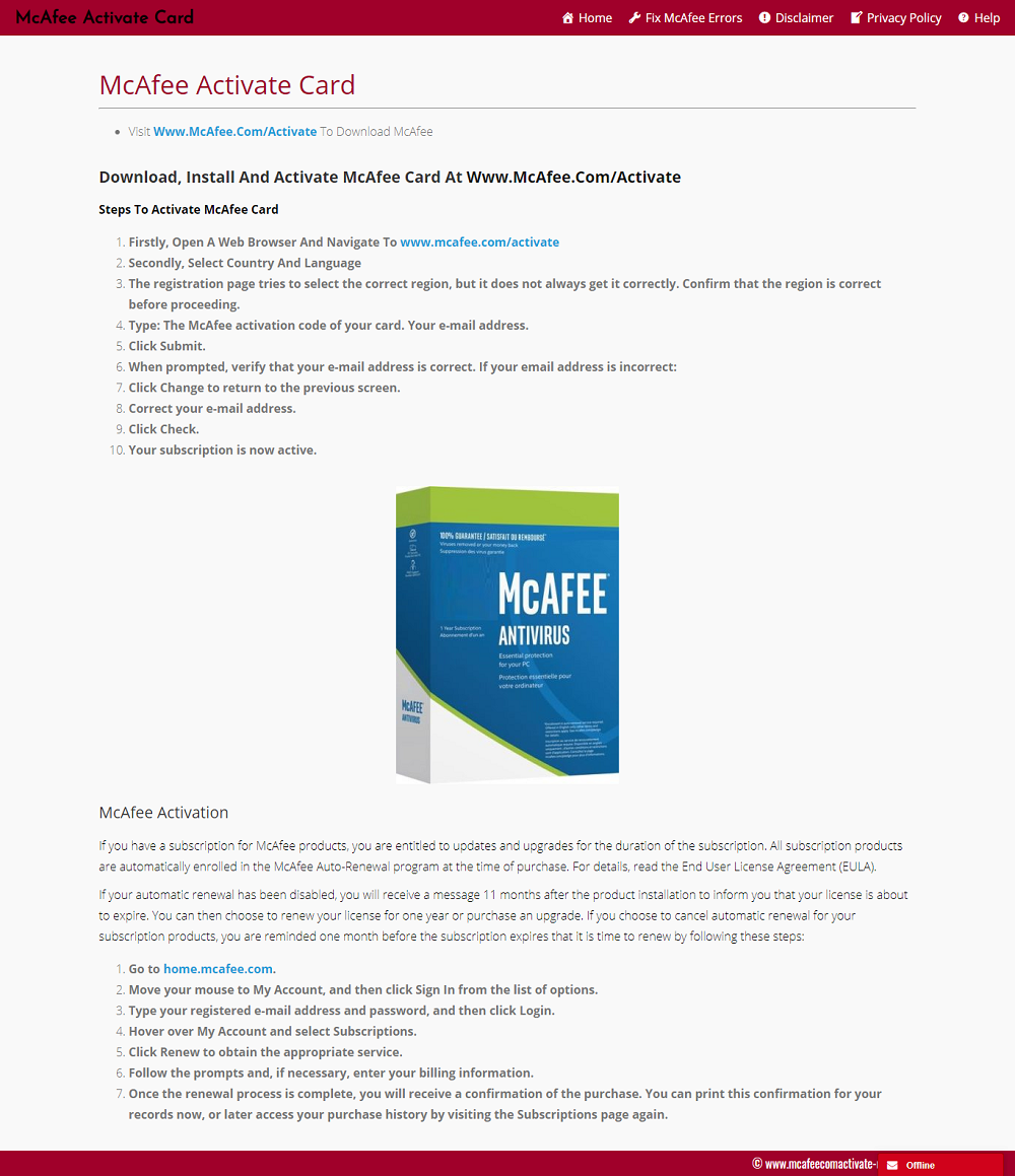 Mcafee Activate Card Mcafee Activated Cards