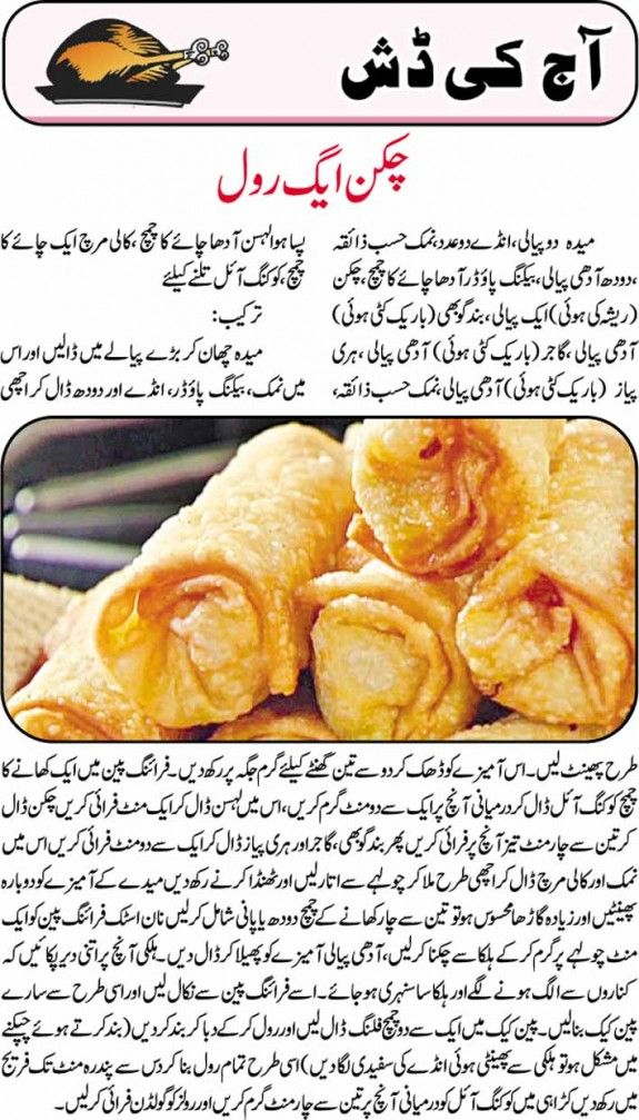 Urdu Chicken Egg Roll Recipe