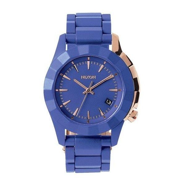 Watch Links Nixon Purple: Nixon Monarch Blue Dial Ladies Watch (465 DKK) Liked On