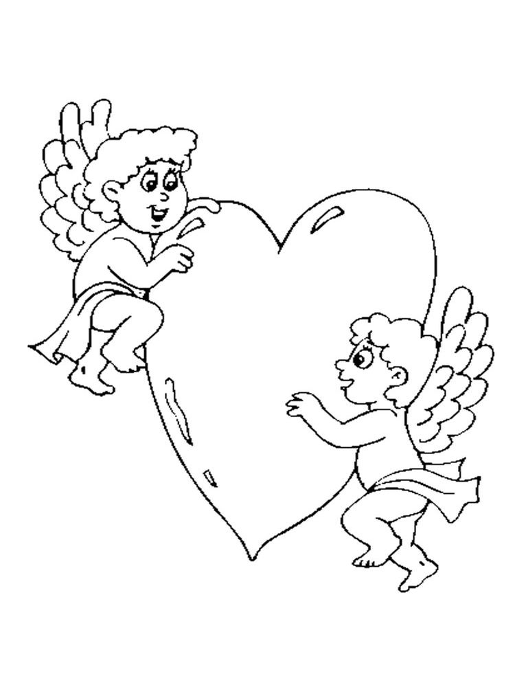 Free Printable Cupid Coloring Pages Cupid Is A Love Fairy Cupid Is A Winged Infant C Valentines Day Coloring Page Valentines Day Coloring Cool Coloring Pages