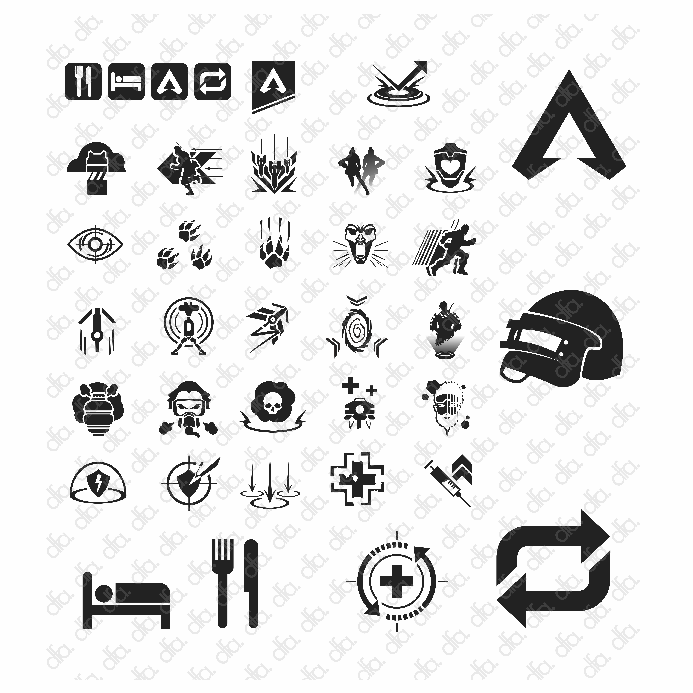 Bundle Packages Apex Legends Final Fantasy 7 And Pubg Printable Download In 2020 Legend Custom Fonts Apex