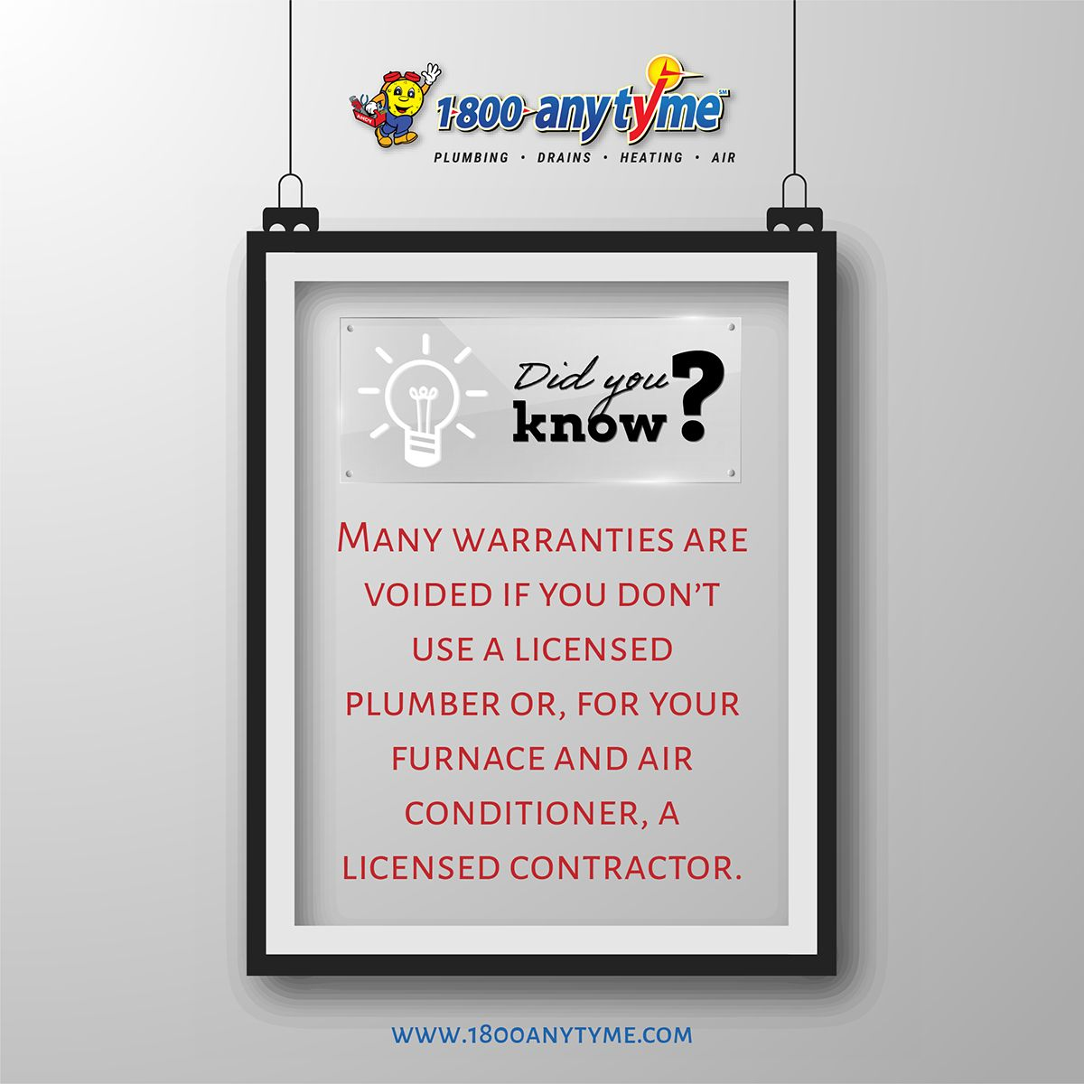 Many warranties are voided if you don't use a licensed