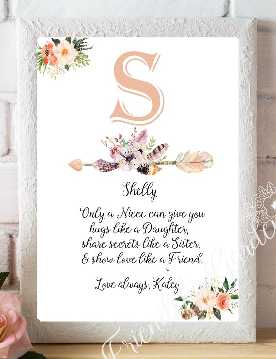 Niece Gift Birthday Gifts For Personalized From Aunt Quote P