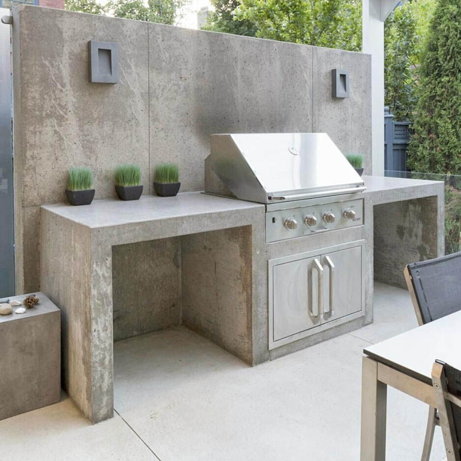 Concrete Countertops Advantages And Disadvantages Concrete Outdoor Kitchen Outdoor Kitchen Design Outdoor Barbeque