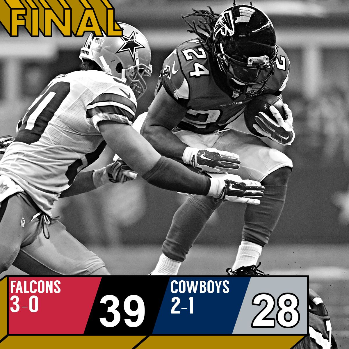 A High Scoring Game In Texas During Week 3 Meant That The Atlanta Falcons Took Their Record To 3 0 Despite A Mighty Effo Dallas Cowboys Atlanta Falcons Cowboys
