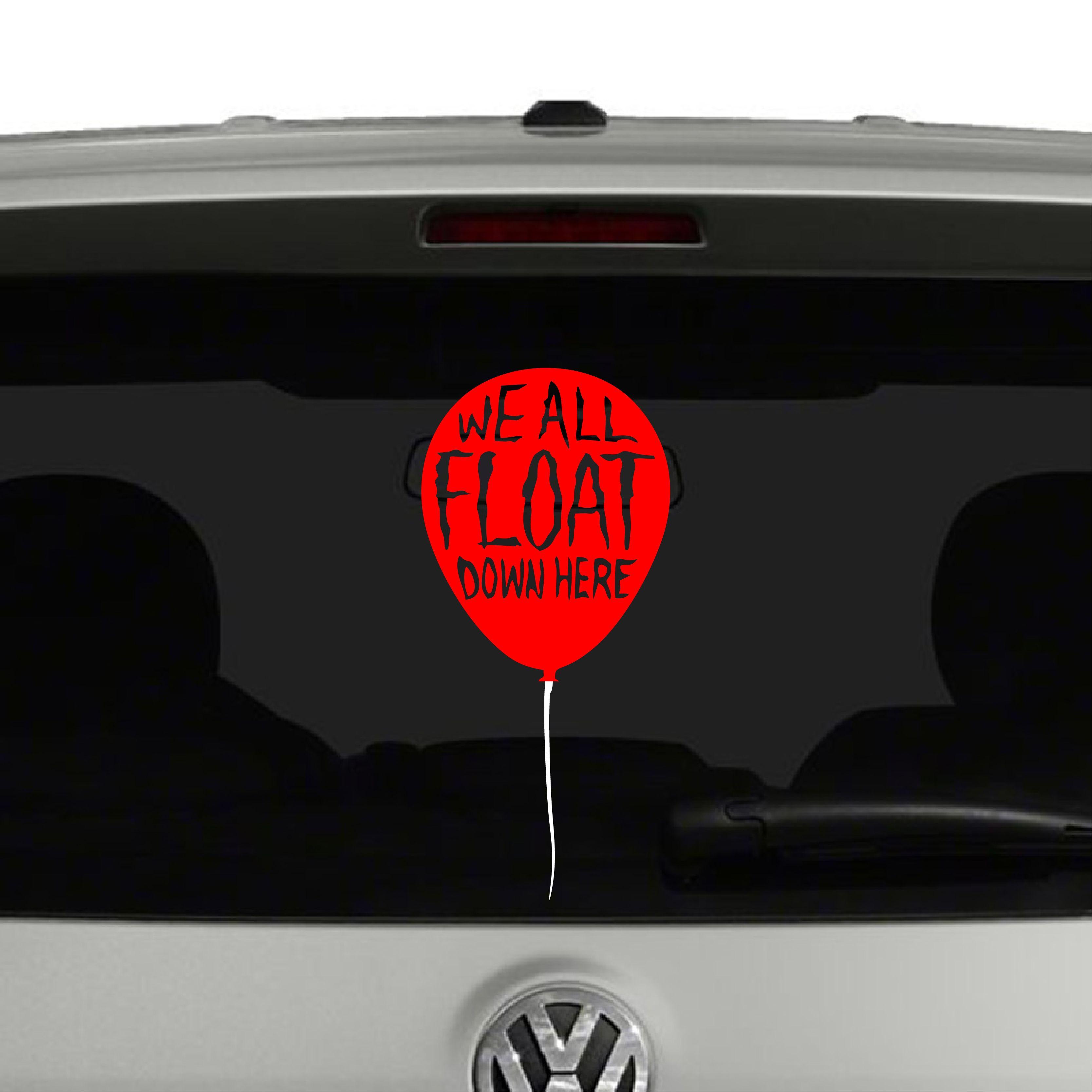 We All Float Balloon Pennywise Clown It Inspired Vinyl Decal Sticker Cosmic Frogs Vinyl Vinyl Decal Stickers Decals Vinyl [ 3334 x 3334 Pixel ]