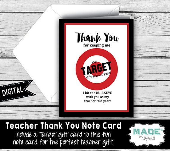 digital thank you note card target gift card holder teacher appreciation teacher gifts. Black Bedroom Furniture Sets. Home Design Ideas