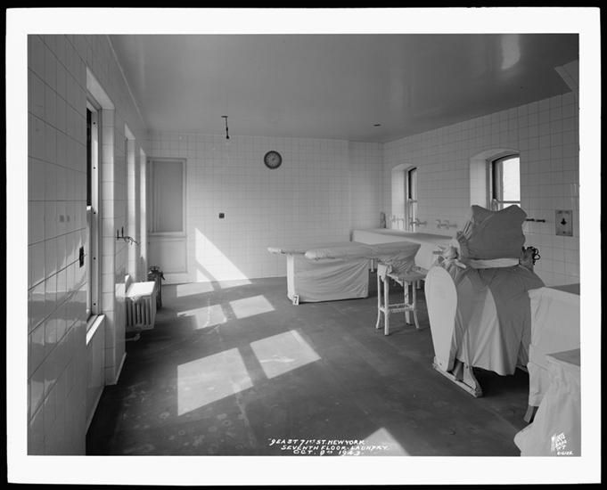 No 7 9 East 71st Street Laundry Room St Clare S Hospital October 8 1943 Prior To Opening Mansions Residences House