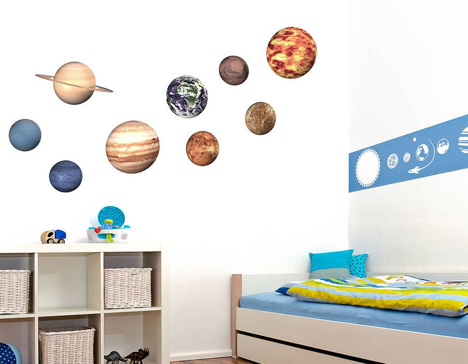 Space Planeta Wall Stickers Contemporary Science Museum Planet