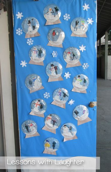 Snow globes writing lesson and craft laughter globe and for Preschool snow globe craft