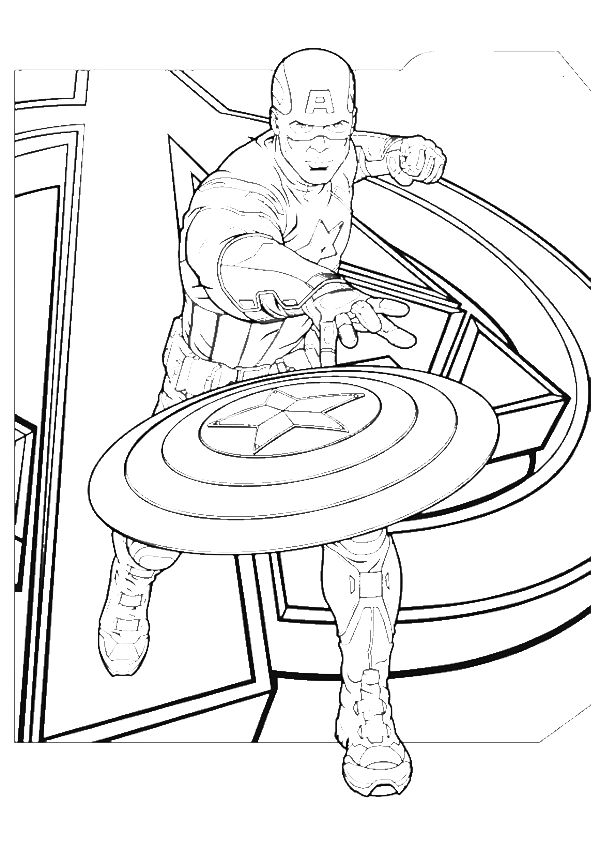 captain america cast engage coloring pages captain america coloring pages kidsdrawing free coloring - Captain America Pictures To Color