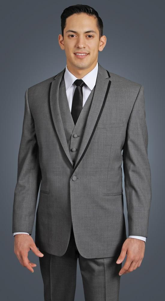 Click to Buy << Classic Style One Button Grey Groom Tuxedos ...