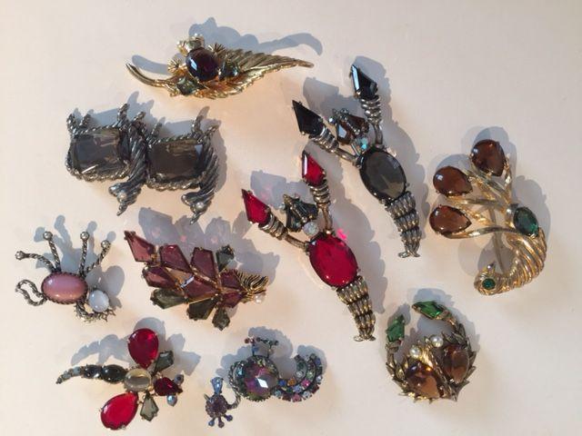 Schiaparelli animal brooches