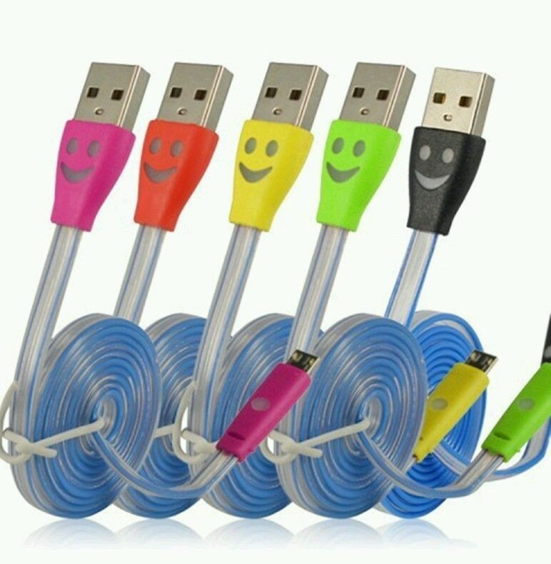 30Pin USB Cable 4 Color Change Led Light For Iphone 4 4G 4s Charging ...