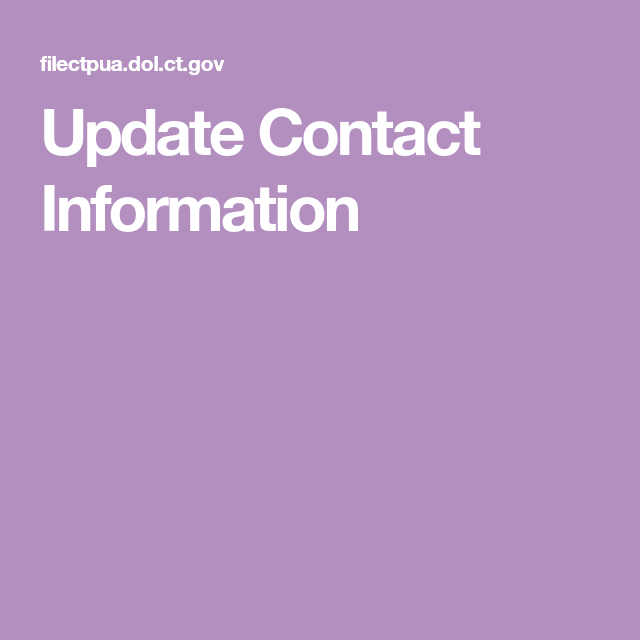 Update Contact Information Dinners For Kids Unemployment
