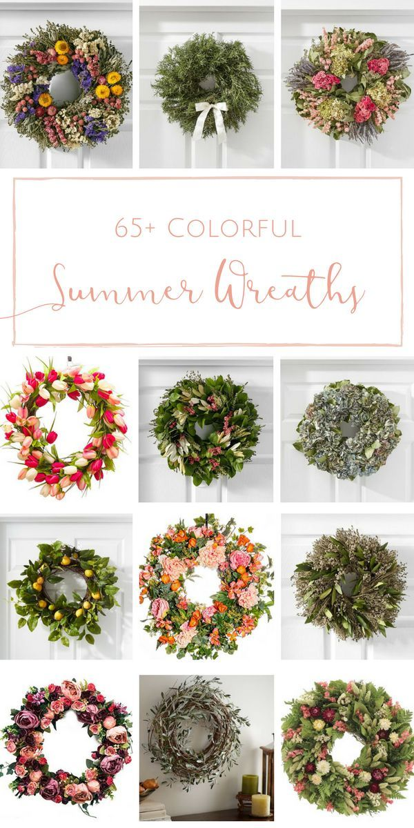 65 Colorful Summer Wreaths To Brighten Up Your Front Door With