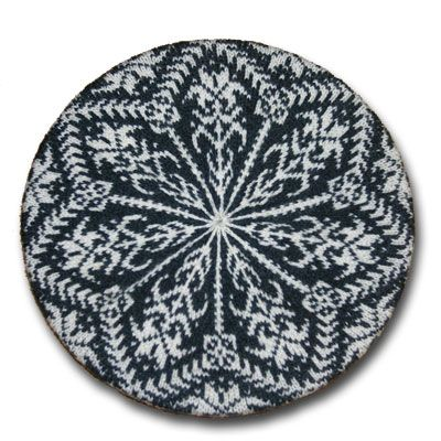 Amaryllis hat, a knitting design by Mary Ann Stephens. Kits available in your choice of colors, using Dale of Norway Baby Ull yarn.