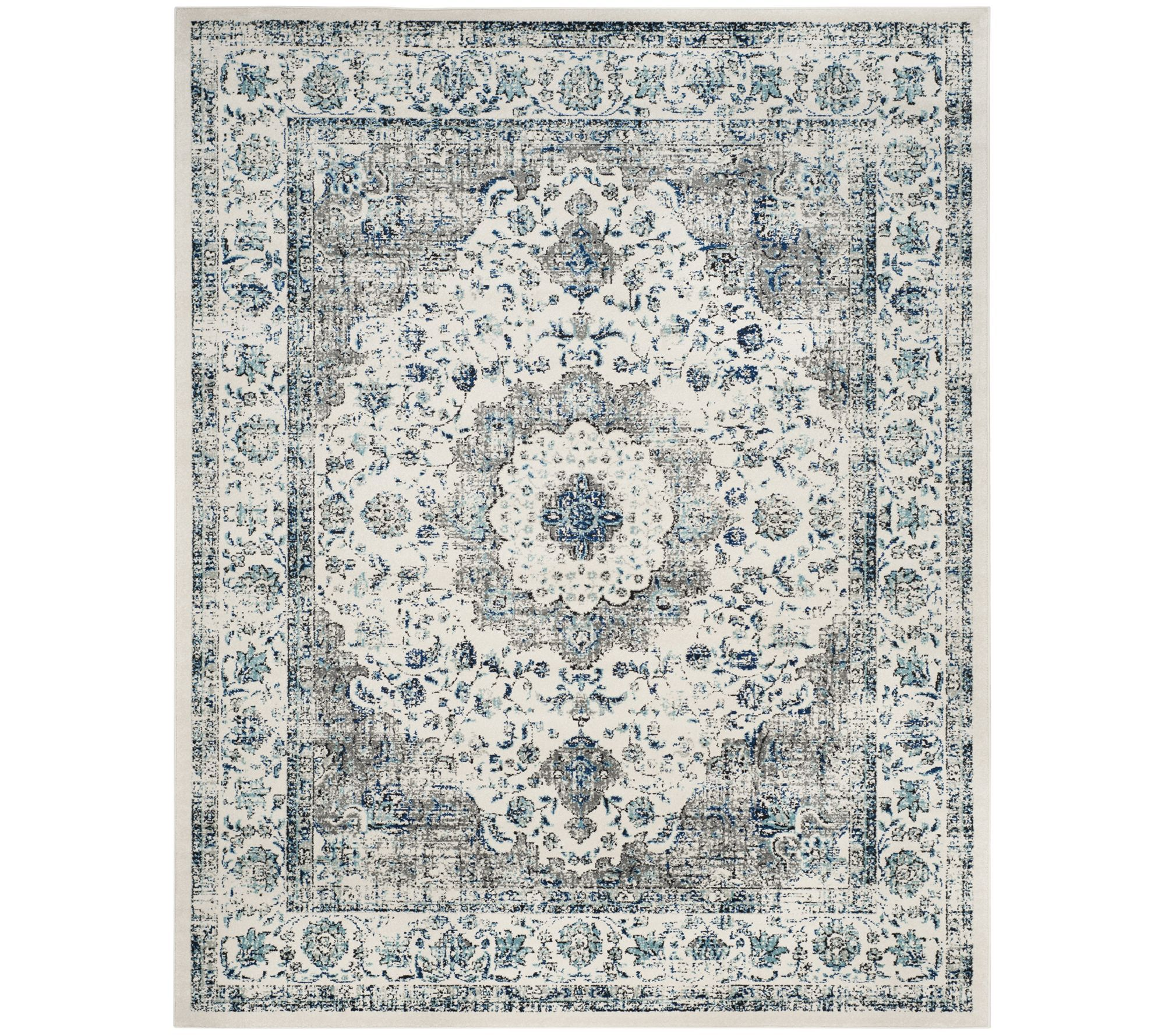 Safavieh Evoke Sutton 8 X 10 Rug Qvc Com Vintage Area Rugs Square Area Rugs Blue Area Rugs