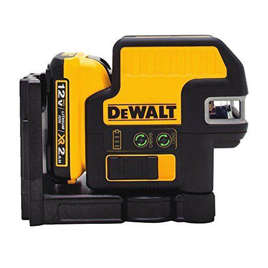 Dewalt Dw0825lg 12v 5 Spot Cross Line Laser Green Dewalt Green Laser Laser Levels