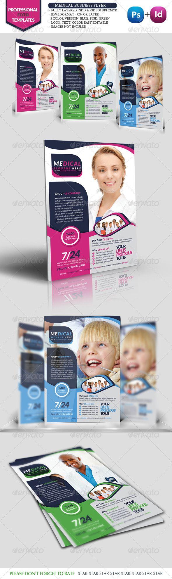 Health Business Flyer | Folletos, Dentistas y Diseño editorial