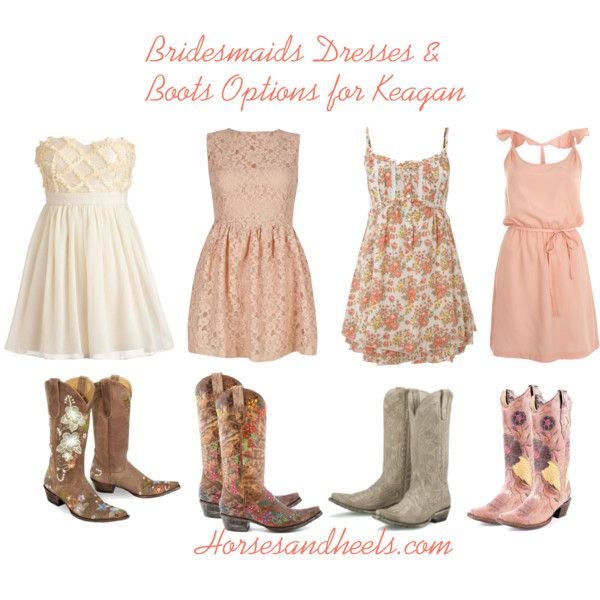 Bridesmaids Dresses & Boots - Polyvore | Skirts and Boots ;) | Pinterest