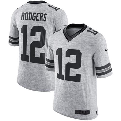 Nike Packers  12 Aaron Rodgers Gray Men s Stitched NFL Limited Gridiron Gray  II Jersey And Malik Hooker jersey 9c28bf4b0
