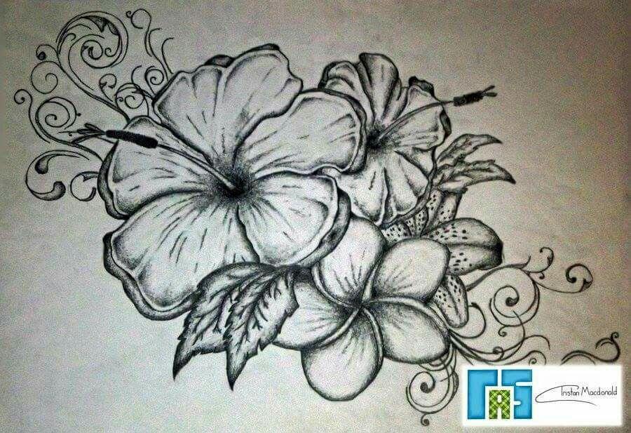 Nice Tattoo Idea Hawaiian Flower Tattoos Flower Tattoo Flower Tattoos