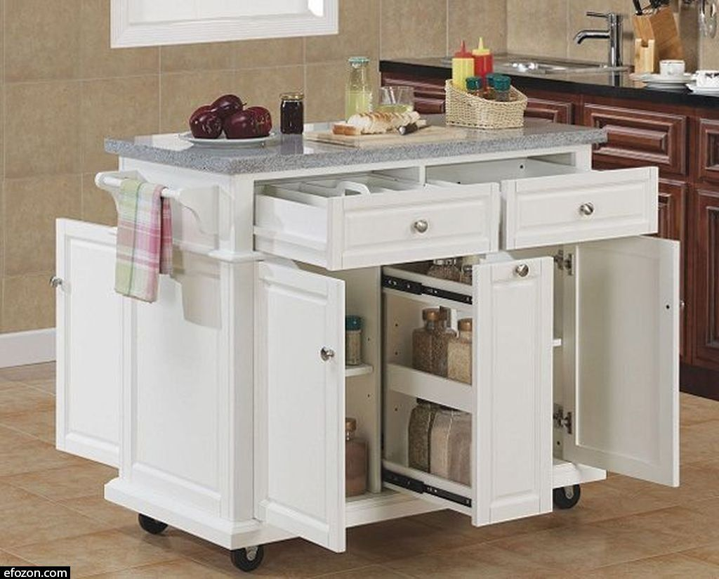 30 Affordable Small Kitchen Design Options For Home Mobile Kitchen Island Kitchen Island Storage Movable Island Kitchen