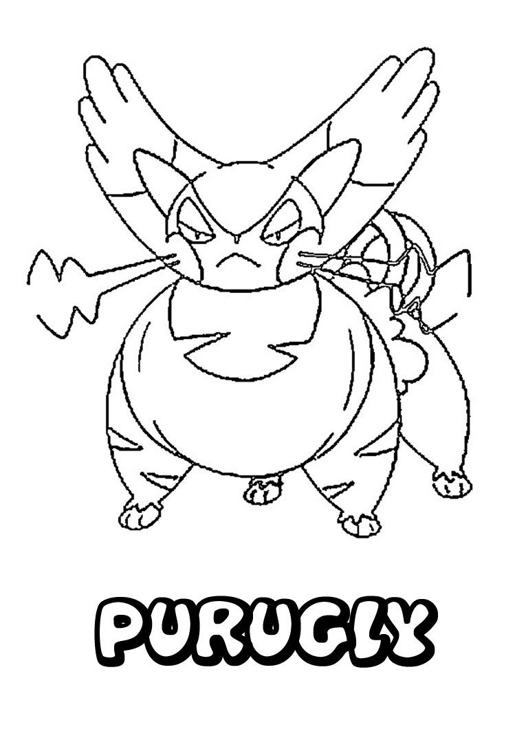 Purugly Pokemon coloring page. More Pokemon coloring pages on ...
