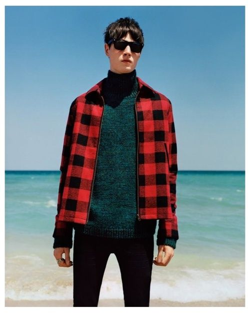 Smartened-up buffalo check on the beach in the @TOPMAN