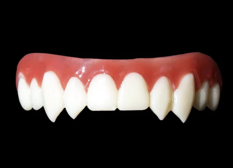 Great Fitting Fangs That Aren T Vampire Caps They Re Better Immortal Double Fangs By Dental Distortions Dental Distortions Vampire Fangs Fang Fake Teeth