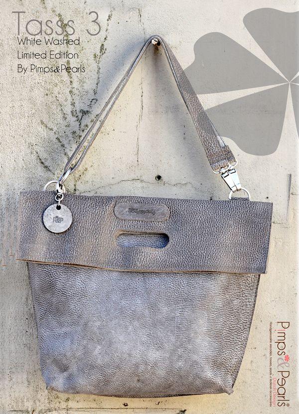 Te verkrijgen bij Allure Puur! Leather bags, special edition White Washed Tasss…