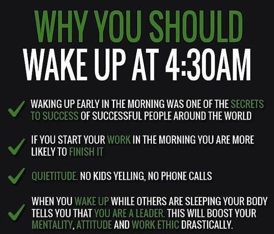 Why You Should Get Up Early Wake Up Quotes Wake Up Early Quotes How To Wake Up Early