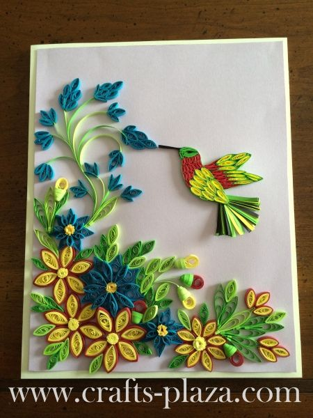 Quilled flowers and bird frame quilling paper craft cards crafts also aastha aaccbb aaaccbb on pinterest rh