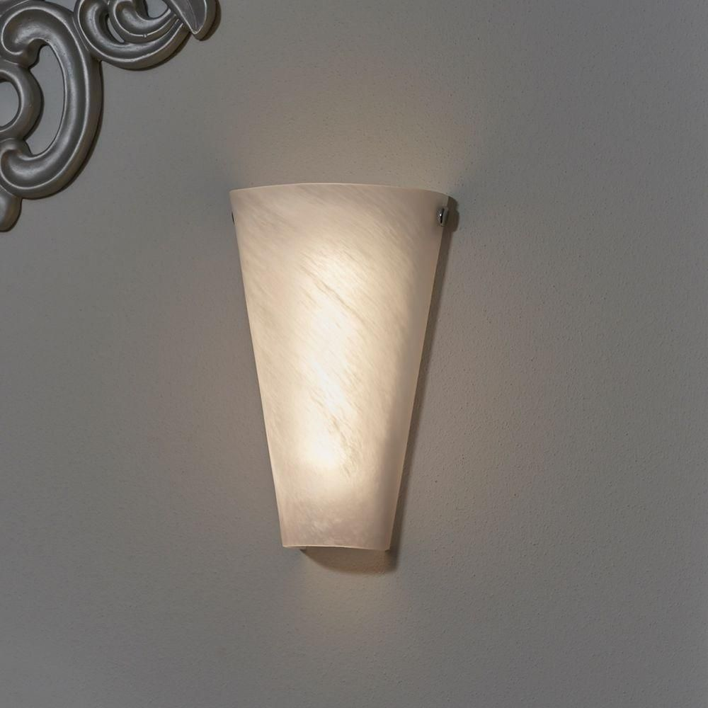 It S Exciting Lighting White 6 Led Conical Battery Operated Sconce With Frosted Marble Glass S Battery Operated Wall Sconce Led Wall Sconce Candle Wall Sconces