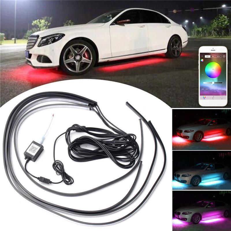Automotive Led Light Strips Extraordinary Decorative App Control Rgb Car Flexible Led Lights Strip  Flexible Design Inspiration