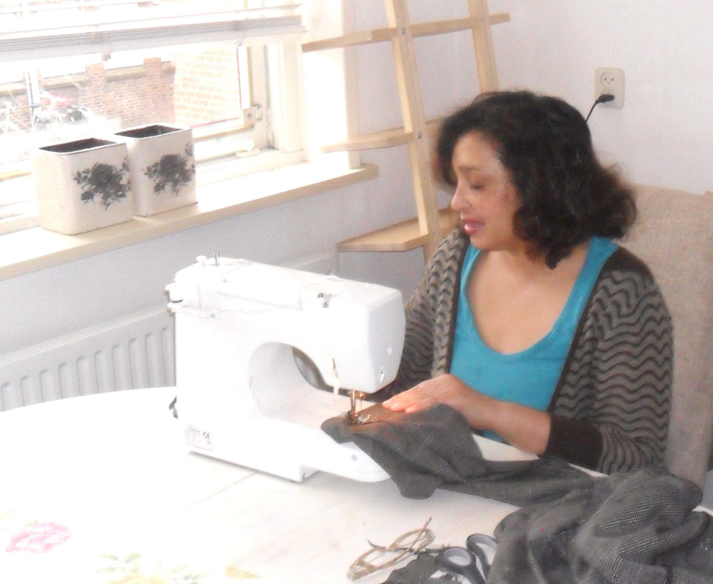 sewing at home