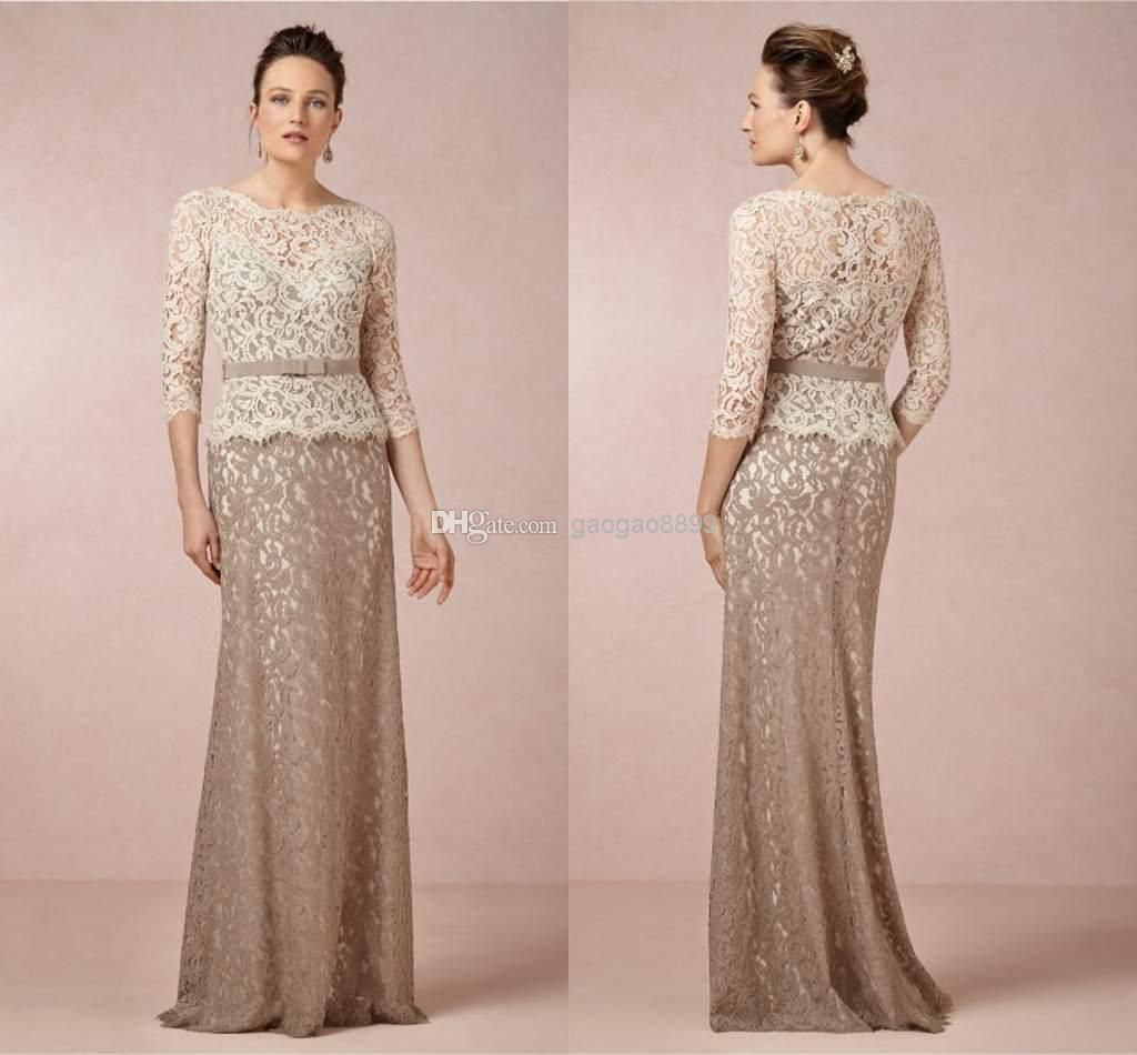 Cheap 2014 Bridesmaid Dresses - Discount Long Sleeve Lace Bridal Party Dresses Floor Length Online with $118.75/Piece | DHgate