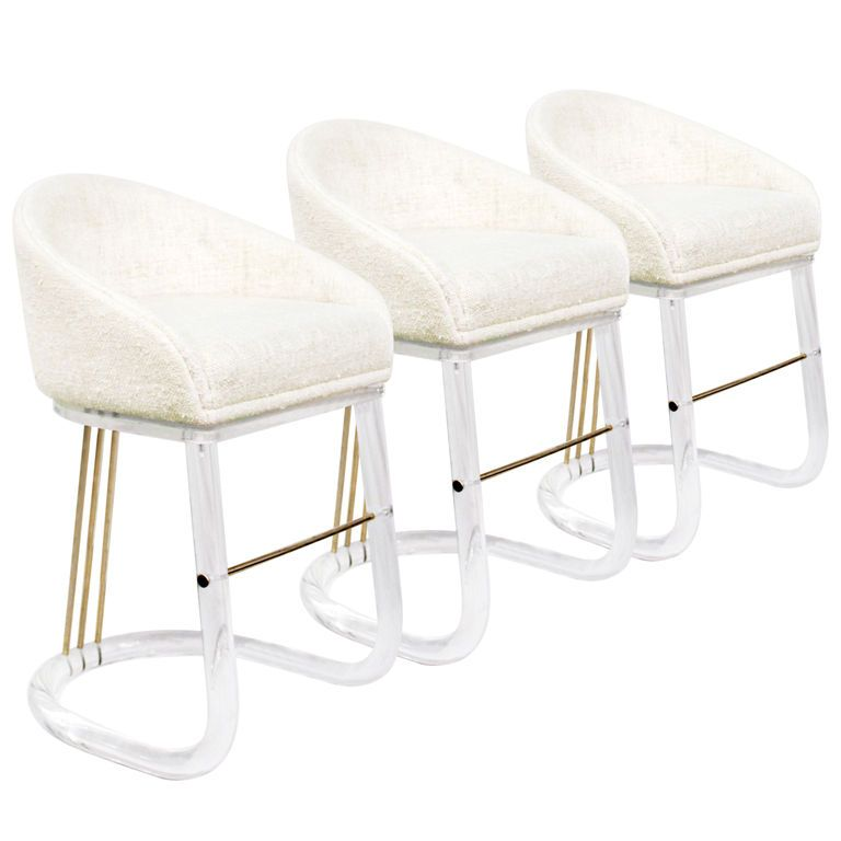 Set Of 3 Lucite Bar Stools By Lion In Frost From A Unique Collection Antique And Modern At Http Www 1stdibs Furniture Seating