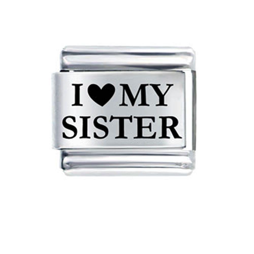 I love My Sister Italian Link Bracelet Charm  c20437dffaf7
