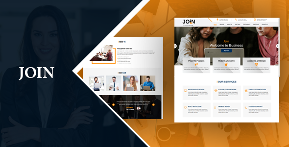 Buy Join One Page Html Landing Page By Sbtechnosoft On
