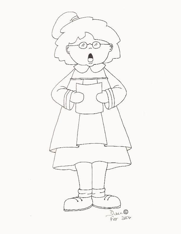 petite chanteuse,dessiner par moi en 2006