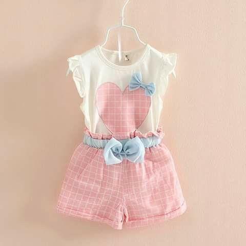 Short y blusa de niña