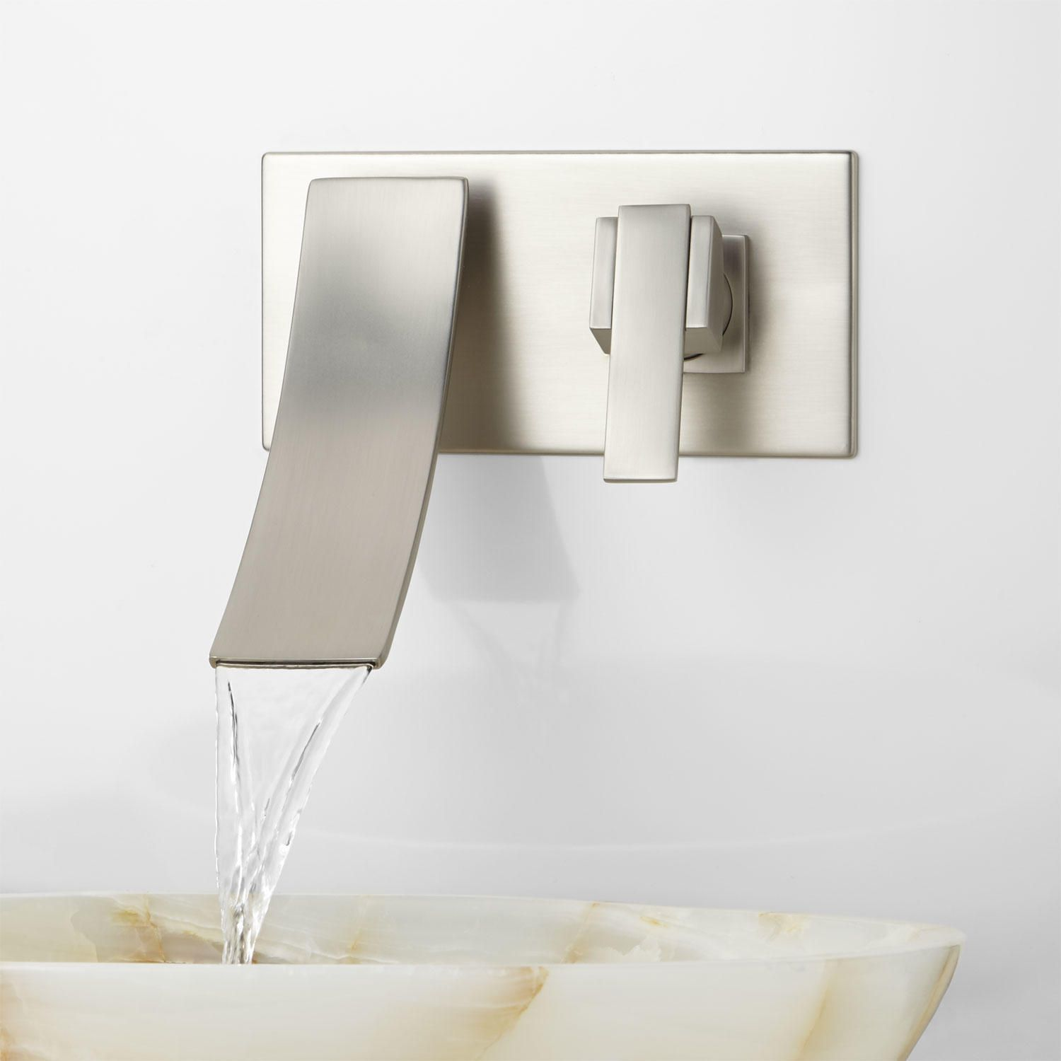Cheval Wall-Mount Bathroom Faucet | Wall mount faucet, Wall mount ...