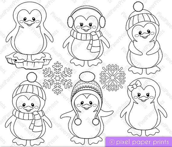 Pinguim Weihnachtsmalvorlagen Malvorlagen Weihnachten Stickmuster
