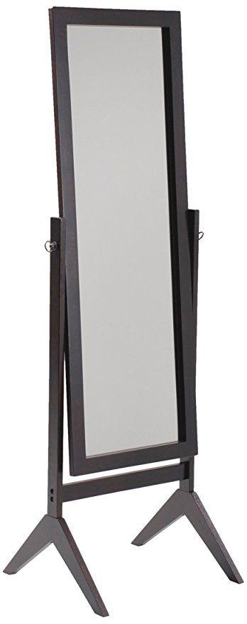 44 99 Crown Mark Espresso Finish Wooden Cheval Bedroom Floor Mirror Cheval Mirror Floor Standing Mirror Floor Mirror