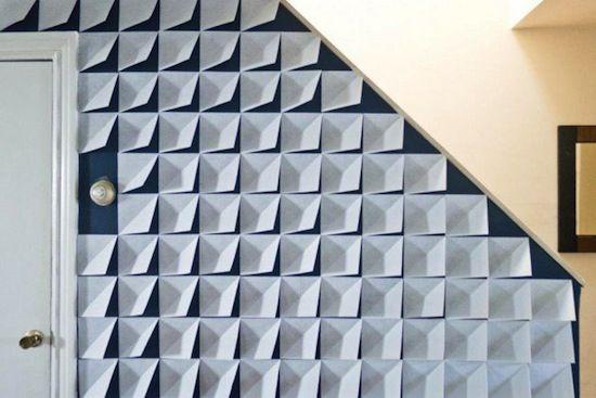 Những mẫu giấy hoàn toàn có khả năng tạo khối và làm cho bức tường của bạn không đơn điệu, tránh nhàm chán.