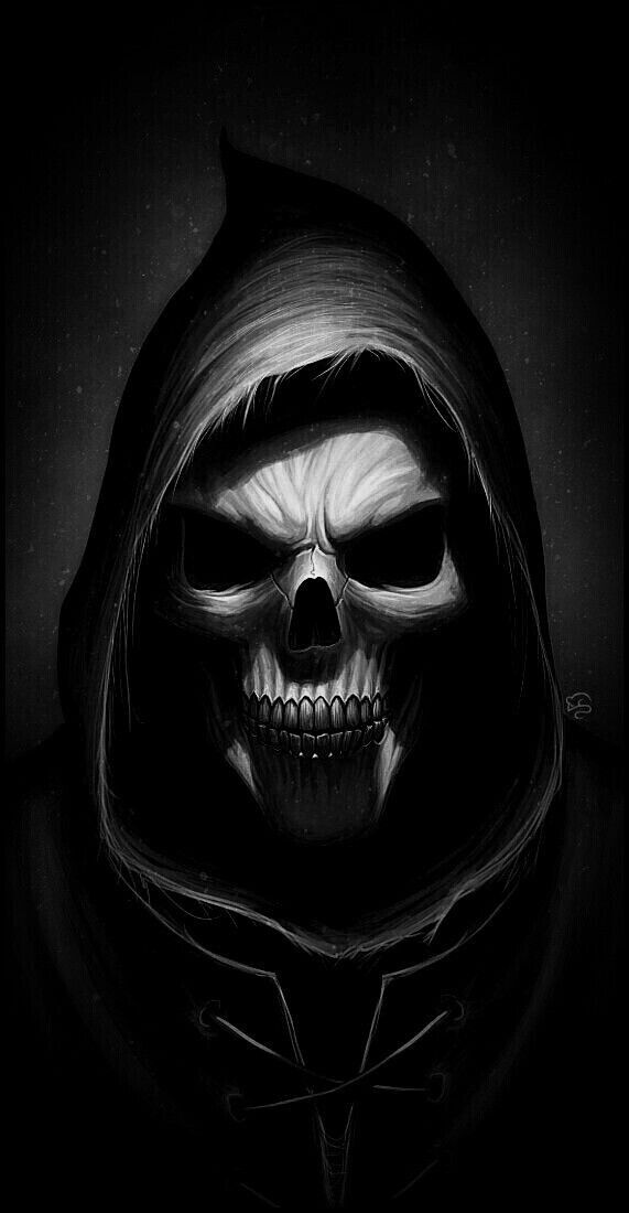 Pin By Palash On Skulls Dark Art Tattoo Skulls Drawing Evil Skull Tattoo Black iphone evil wallpaper