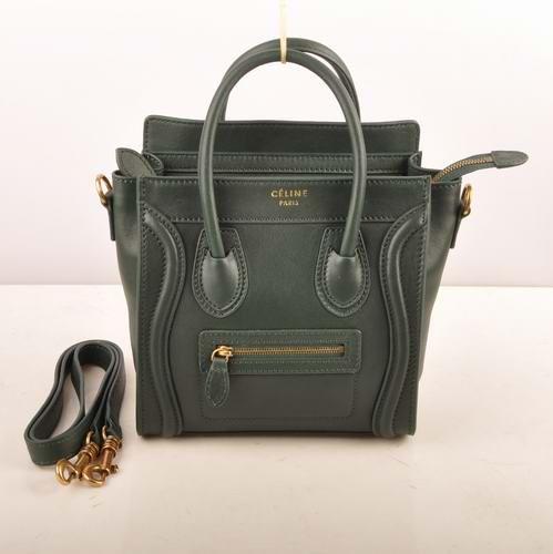 98bc9e6bcd Celine Nano Tote Bag 308 emerald green 20cm